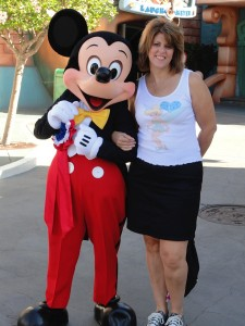 Joyce Kessel and Mickey Mouse