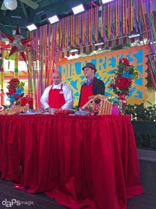 Mr. DAPs Making Buñuelos Navideños with Chef Toby at the Disneyland Resort for Three Kings Day
