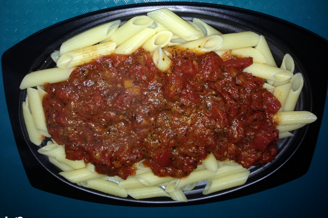 Gluten Free Vegetarian Pasta at Disneyland's Redd Rockett's Pizza Port