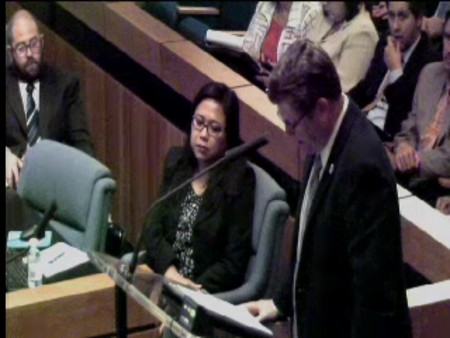 Screenshot of video of Anaheim City Council meeting where the agreement was on the agenda