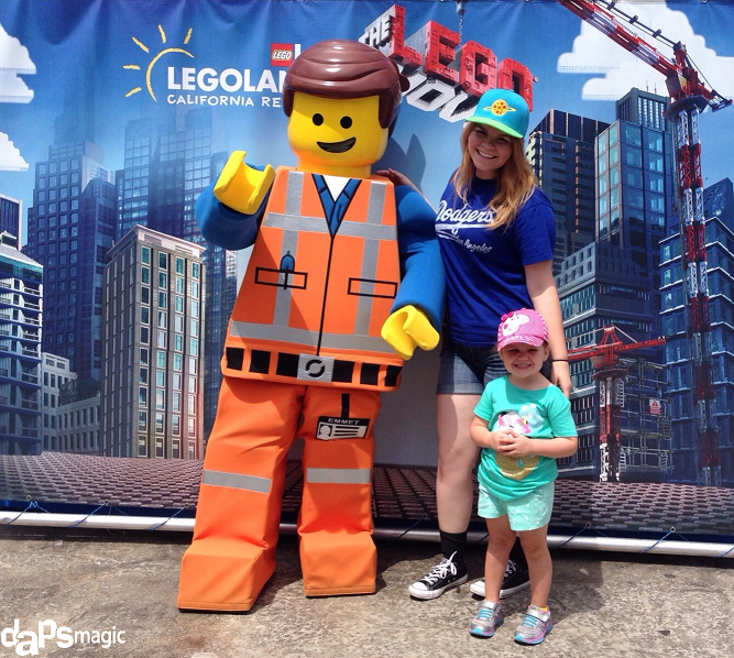 """Hanging out with the star of """"The Lego Movie,"""" Emmet and my cousin."""