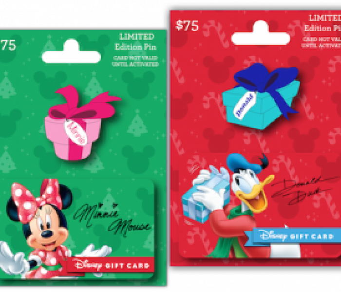 Disney Parks Gift Card Holiday Pin Series Now Available