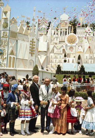 WALT'S SMALL WORLD -- For it's opening at Disneyland, Walt Disney, together with children representing the world's nations, poured water collected from the major rivers, seas and oceans of the globe into the Seven Seaways canal that carries visitors in boats through the attraction. One of the most popular Disney attractions of all time, the show is a fun-filled and whimsical salute to the children of the world that conveys its message of peace and harmony through the international language of music. ©2006 Disney Enterprises
