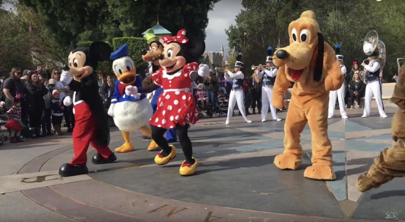 Limited Time Castle Show at Disneyland