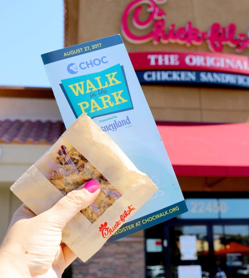 Chick fil a Cookie Day - CHOC Walk in the Park