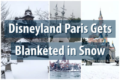 Disneyland Paris Gets Blanketed in Snow