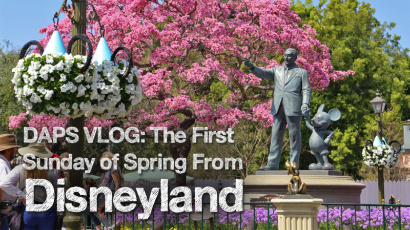 DAPS VLOG: The First Sunday of Spring from Disneyland