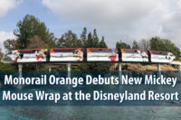 Monorail Orange Debuts New Mickey Mouse Wrap at the Disneyland Resort