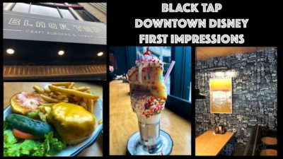 First Impressions of the New Black Tap at Downtown Disney