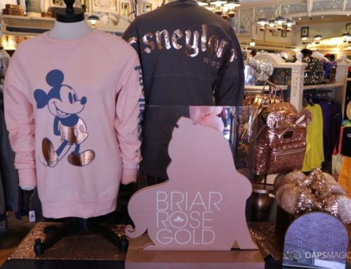 Briar Rose Gold Merchandise Makes its Sparkly Debut in Disneyland!