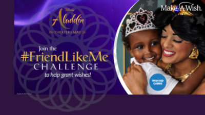 Will Smith And Disney Partner Up with Make-A-Wish to Launch #FRIENDLIKEME Challenge Ahead of Aladdin's Arrival in Theaters