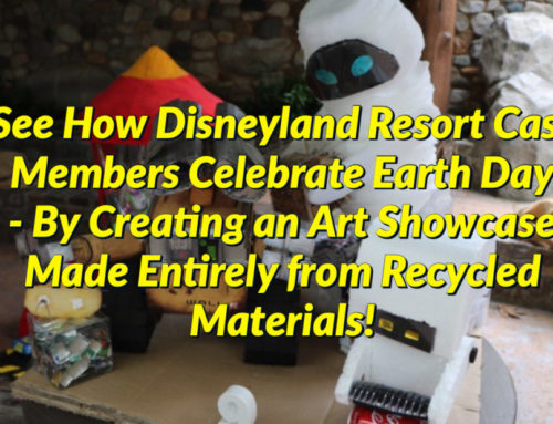 See How Disneyland Resort Cast Members Celebrate Earth Day – By Creating an Art Showcase Made Entirely from Recycled Materials!