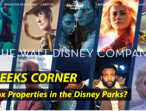 Fox Properties in the Disney Parks?  – GEEKS CORNER – Episode 928 (#446)
