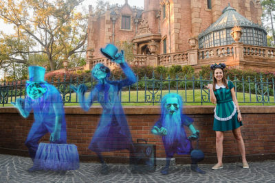 Magic Kingdom Park Celebrating 13th Attraction Photo Location with Spooky Special Events on April 13