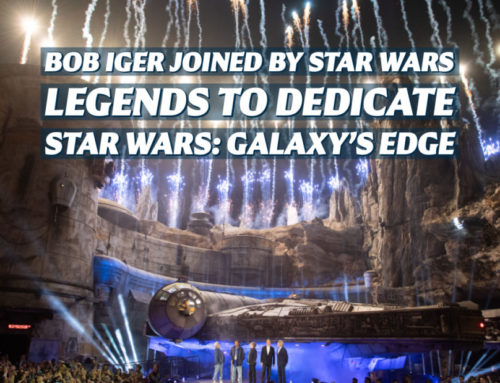Bob Iger, Mark Hamill, Billy Dee Williams, Harrison Ford, Chewbacca, and George Lucas Dedicate Star Wars: Galaxy's Edge at Disneyland Resort