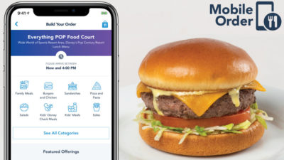 Mobile Ordering at Walt Disney World Resort Expanded to Hotels