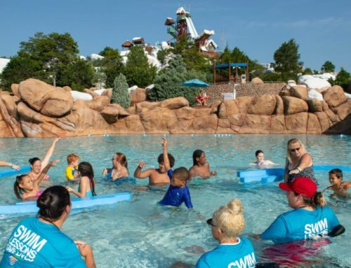 ''World's Largest Swimming Lesson'' Disney's Blizzard Beach Hosts One of the Largest Florida Locations