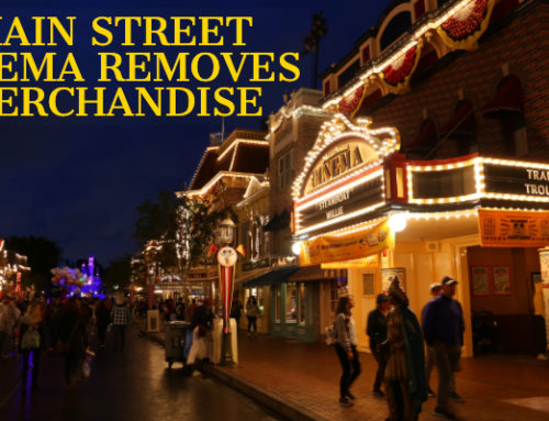 Main Street Cinema at Disneyland Resort Removes the Recently Added Merchandise From the Theater