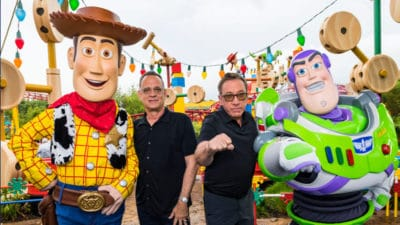 'Toy Story 4' Stars Tom Hanks, Tim Allen Share Thoughts on Toy Story Land as It Celebrates First Anniversary at Disney's Hollywood Studios