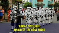 Sunday Spotlight: March of the First Order