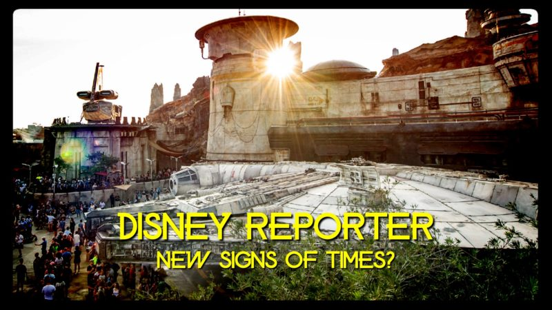 New Signs of Times? - DISNEY Reporter