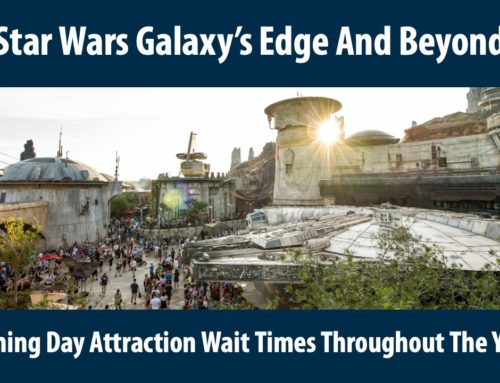 Star Wars: Galaxy's Edge and Beyond! – Opening Day Attraction Wait Times Throughout The Years