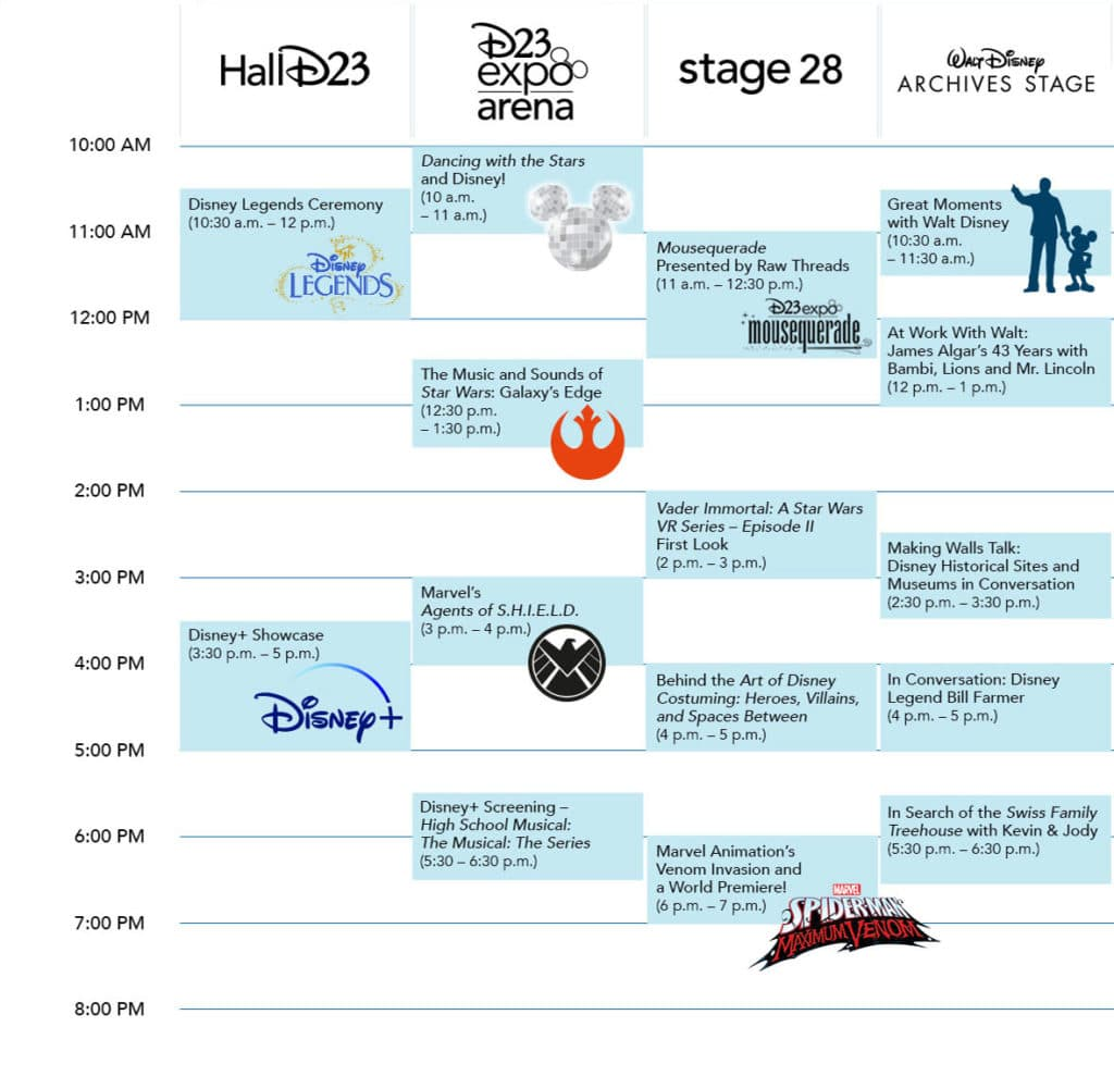 Friday D23 Expo 2019 Schedule