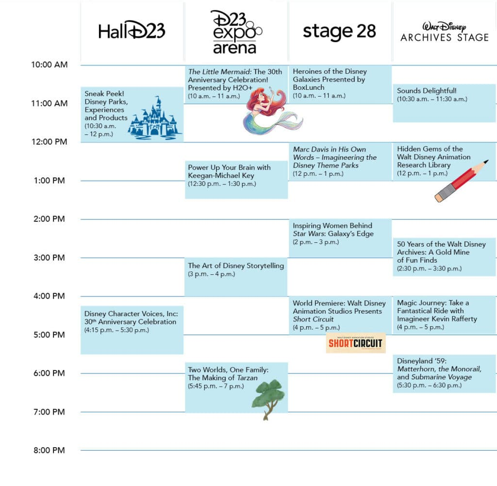 Sunday D23 Expo 2019 Schedule