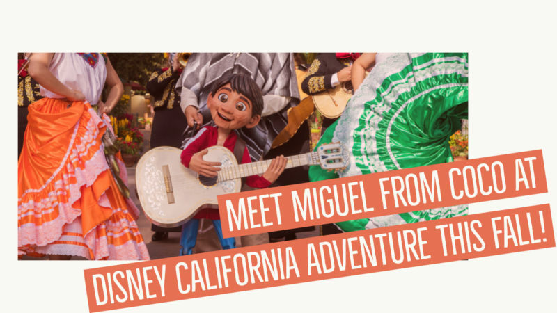 Meet Miguel from Coco at Disney California Adventure This Fall!