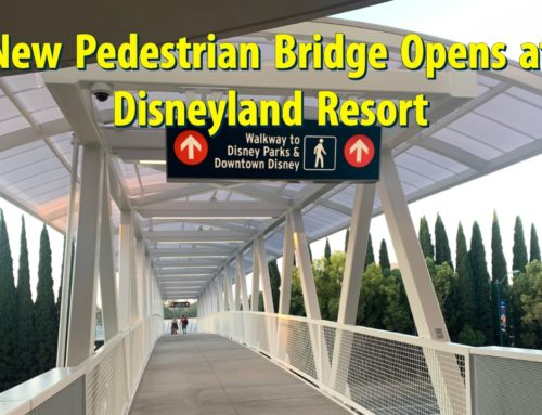 New Pedestrian Bridge Opens Connecting Parking Structure and Downtown Disney District