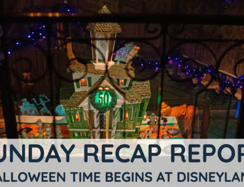 Sunday Recap Report – Halloween Time Begins at the Disneyland Resort