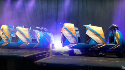 Guardians of the Galaxy: Cosmic Rewind Ride Vehicles Revealed by Disney